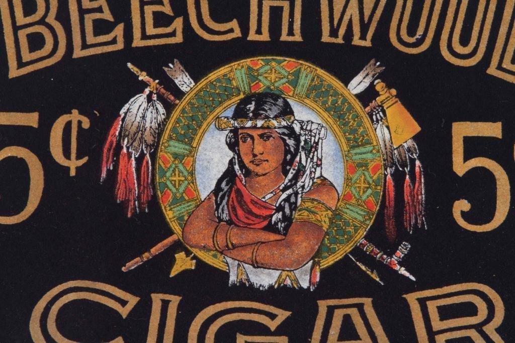 BEECHWOOD 5 cent CIGAR ADVERTISING PIECE - 2
