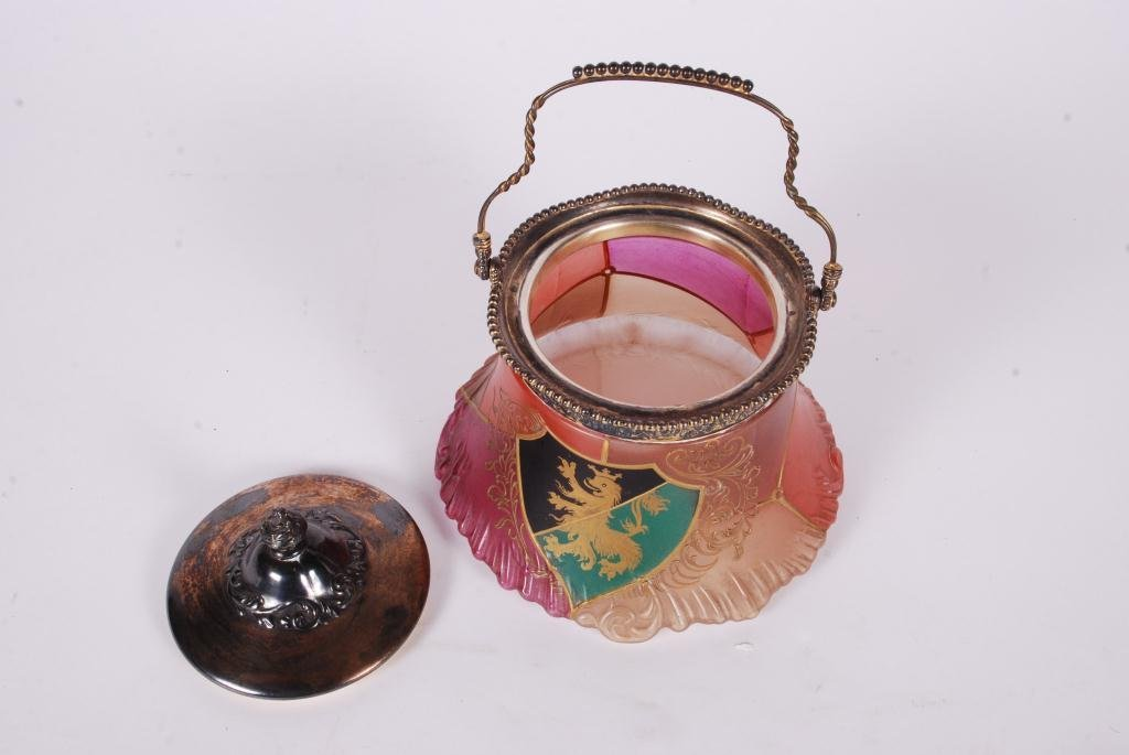 PAIRPOINT CRACKER JAR with COAT of ARMS - 5