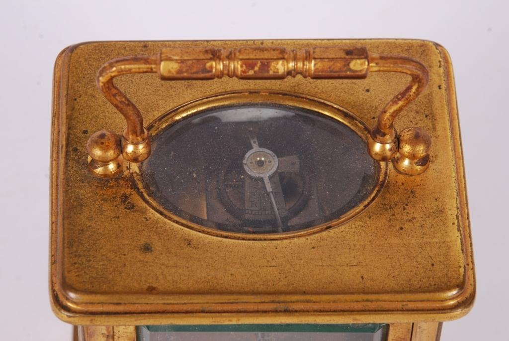 FRENCH BRASS CARRIAGE CLOCK - 5