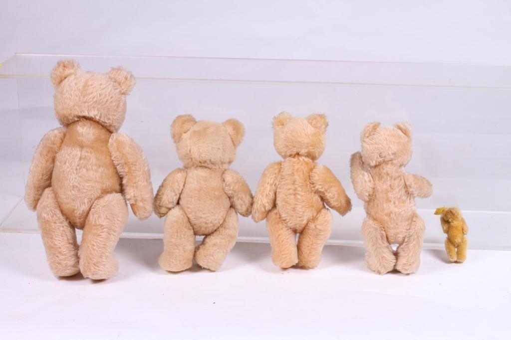 (5) STEIFF ARTICULATED TEDDY BEARS - 2