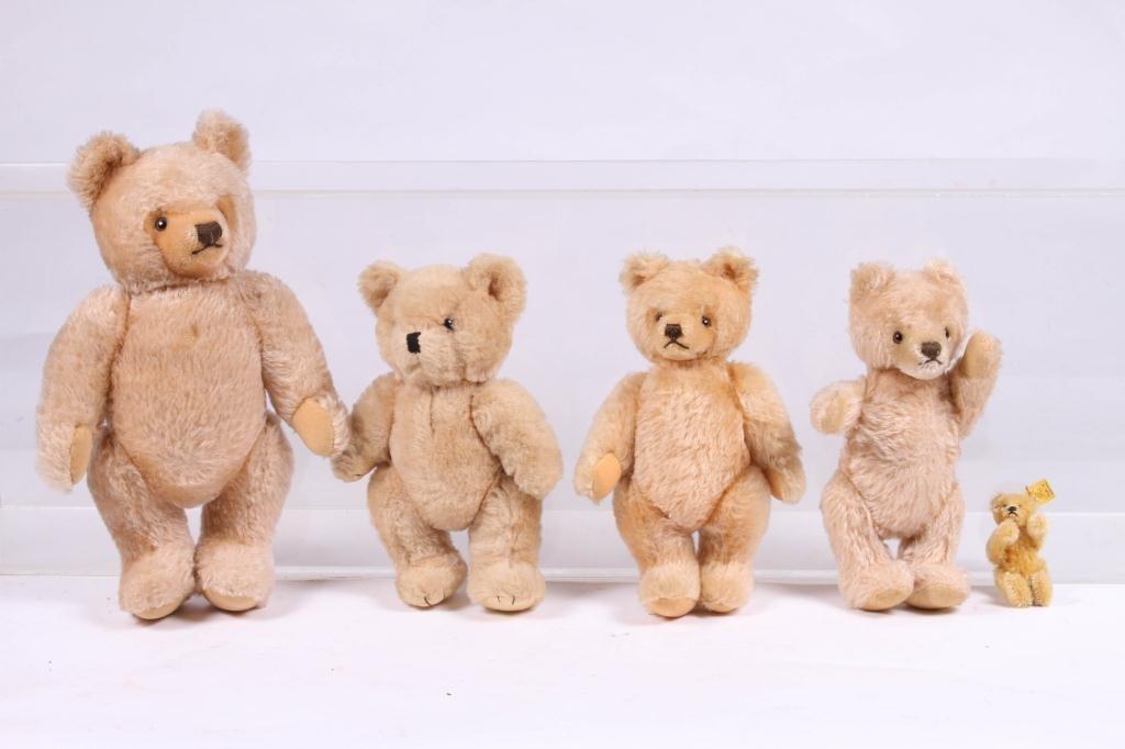 (5) STEIFF ARTICULATED TEDDY BEARS - 4