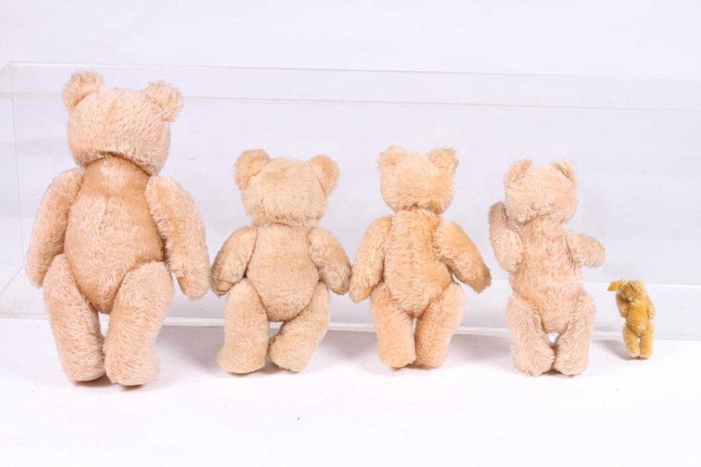 (5) STEIFF ARTICULATED TEDDY BEARS - 8
