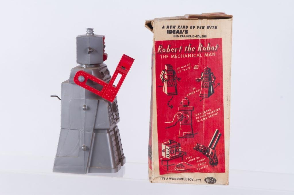 IDEAL'S ROBERT the TALKING ROBOT VINTAGE TOY - 3