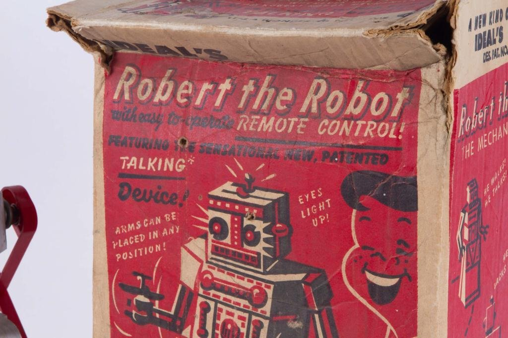 IDEAL'S ROBERT the TALKING ROBOT VINTAGE TOY - 5