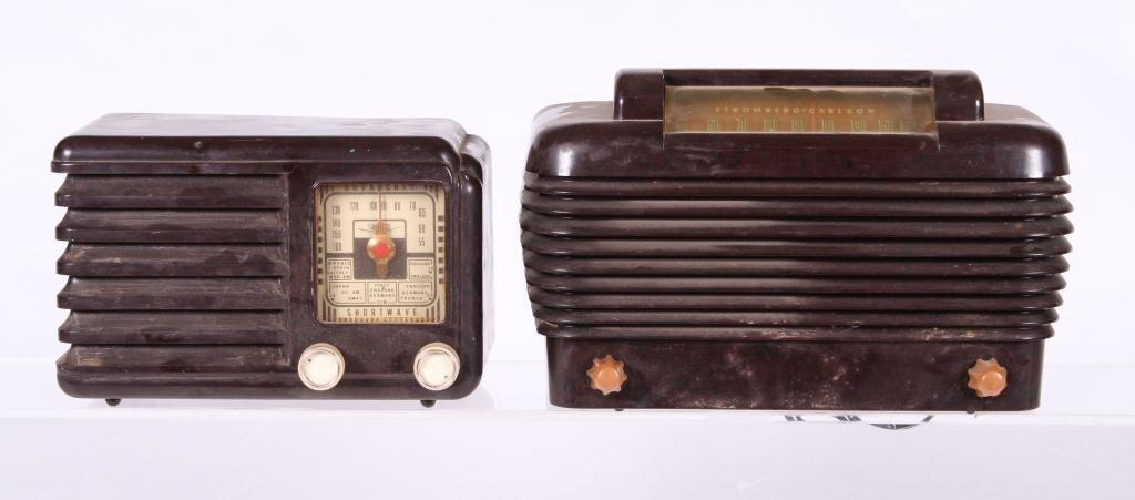(2) ART DECO BAKELITE RADIOS