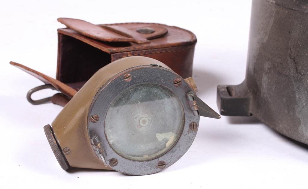US ARMY TYPE D-12 WET COMPASS & MARCHING COMPASS - 3