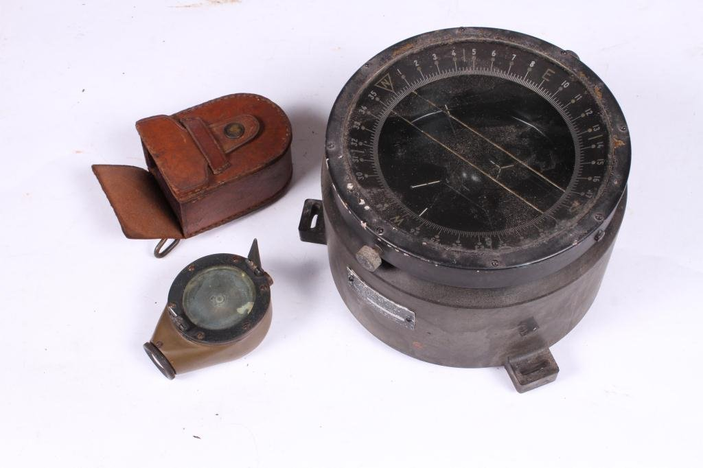 US ARMY TYPE D-12 WET COMPASS & MARCHING COMPASS - 4