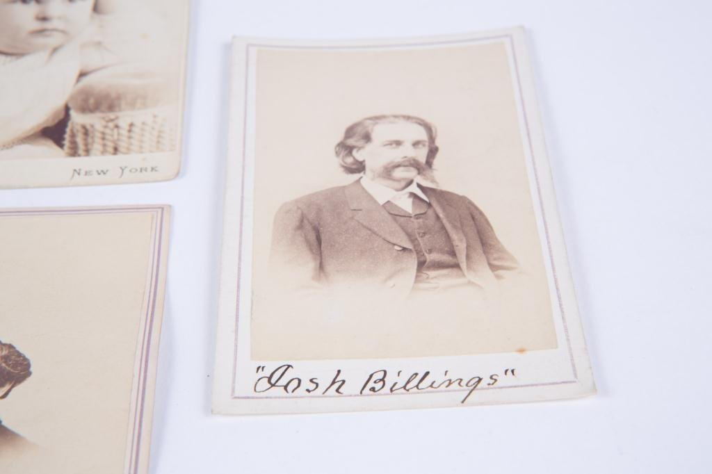CIVIL WAR CDV CHARLES SUMNER JOSH BILLINGS ETC - 10