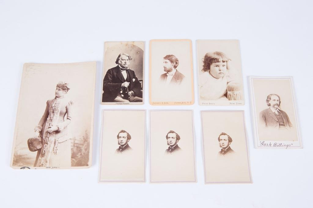 CIVIL WAR CDV CHARLES SUMNER JOSH BILLINGS ETC - 5