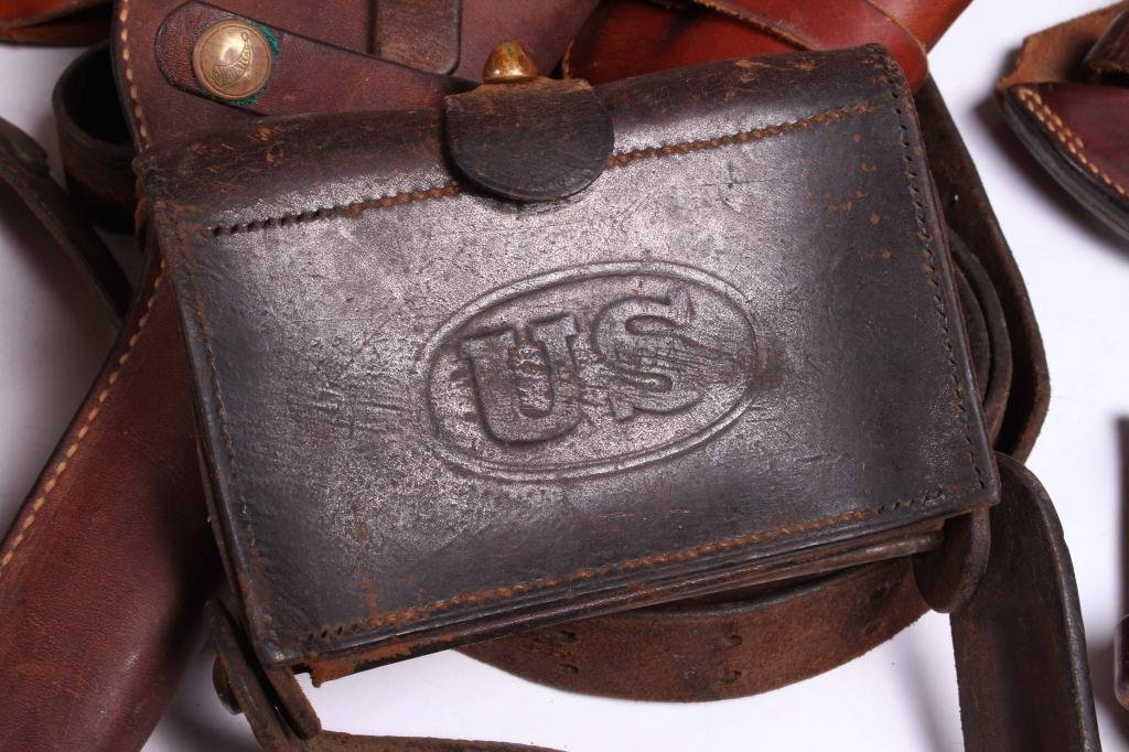 WESTERN LEATHER BELTS AND HOLSTERS ETC - 2