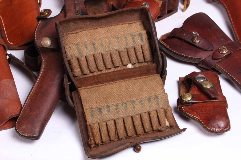 WESTERN LEATHER BELTS AND HOLSTERS ETC - 3