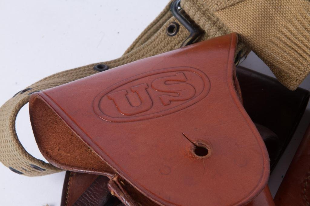(4) US LEATHER HOLSTERS, CARTRIDGE etc. - 2