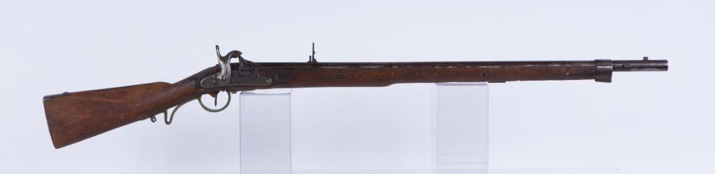 (19th c) PERCUSSION CAP RIFLE