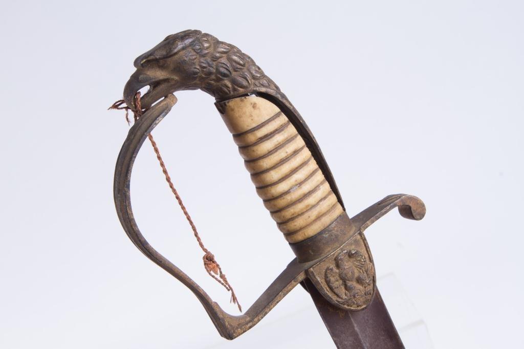 (Early 19th c) EAGLE POMMEL SWORD - 6