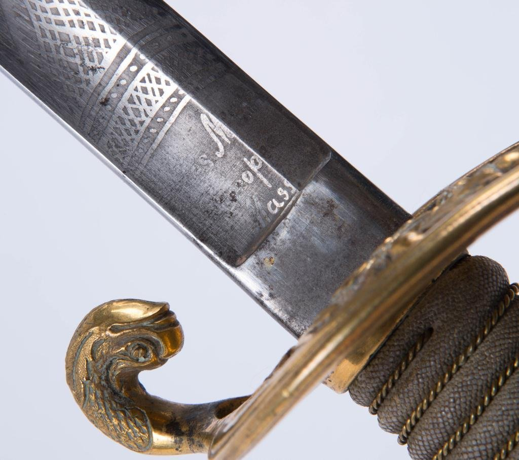 AMES US NAVY MODEL 1852 SWORD WITH SCABBORD - 3