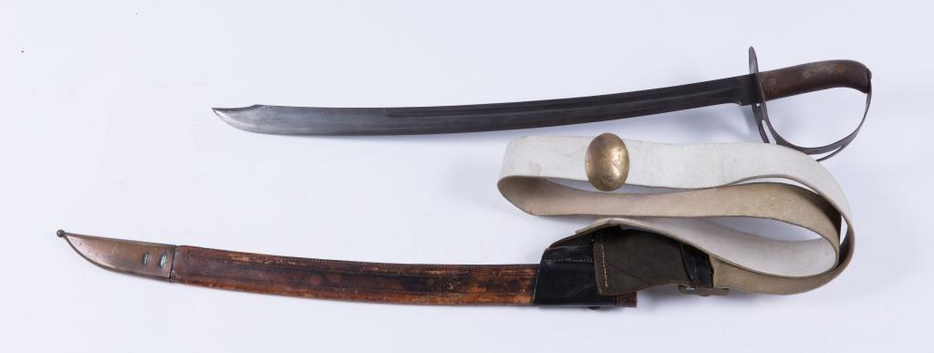 BOER WAR ERA HANGER SWORD WITH CLIP POINT - 2