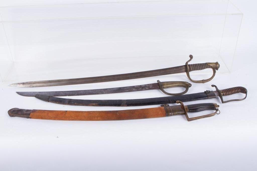 (4) (19th c) UNMARKED SWORDS
