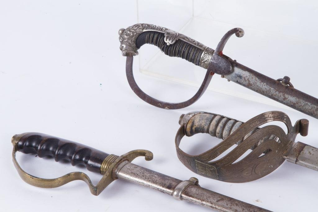 (3) UNMARKED EUROPEAN SWORDS - 5