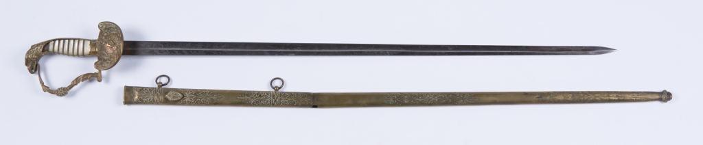 N.P. AMES CUTLER CIVIL WAR / SPANAM OFFICERS SWORD