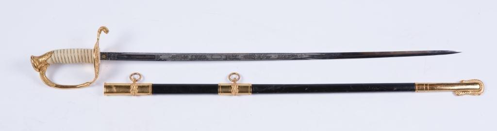 VIETNAM ERA MODEL 1850 NAVAL OFFICERS SWORD