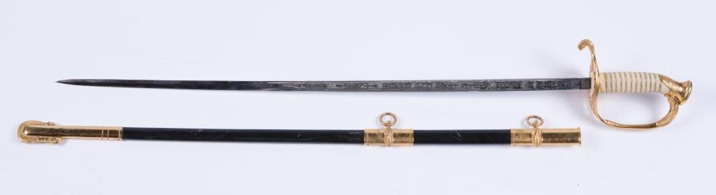 VIETNAM ERA MODEL 1850 NAVAL OFFICERS SWORD - 2