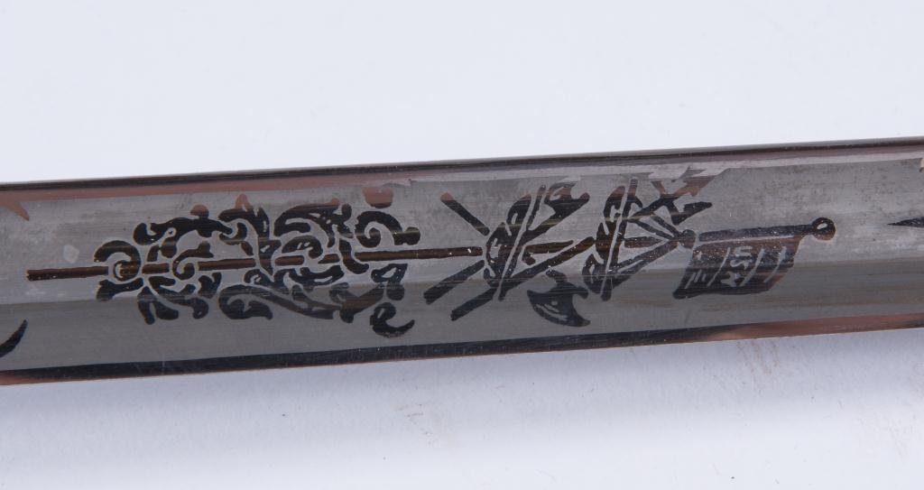VIETNAM ERA MODEL 1850 NAVAL OFFICERS SWORD - 3
