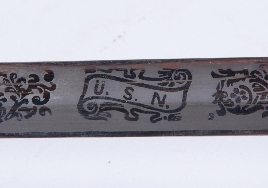 VIETNAM ERA MODEL 1850 NAVAL OFFICERS SWORD - 4
