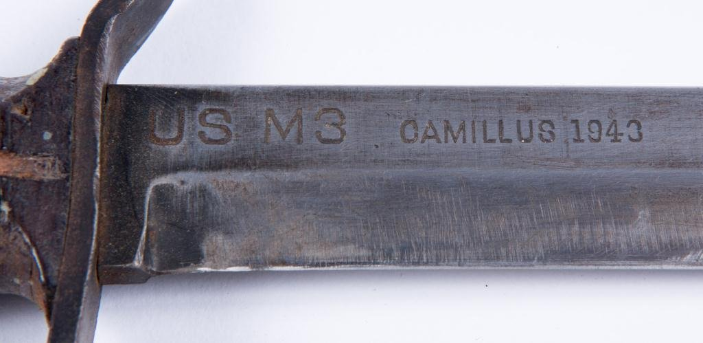 WWII M3 CAMILLUS TRENCH FIGHTING KNIFE 1943 - 5