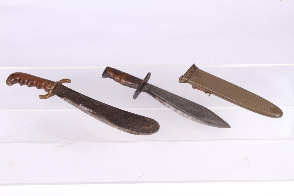 WWI US M 1917 BOLO KNIFE / M 1904 HOSPITAL CORP