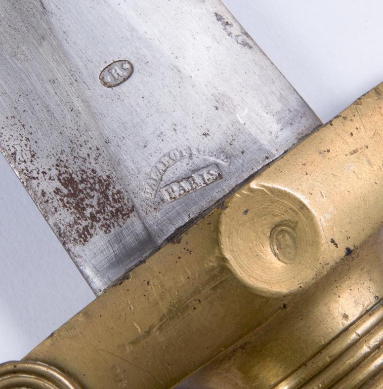 MODEL 1832 FOOT ARTILLARY SWORD SIGNED TALOBOT - 2