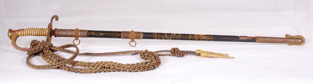 WWII US NAVY OFFICER'S SWORD with SCABBARD