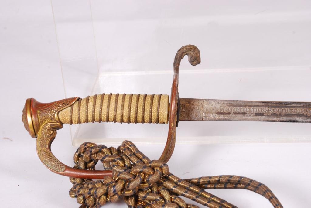 WWII US NAVY OFFICER'S SWORD with SCABBARD - 8