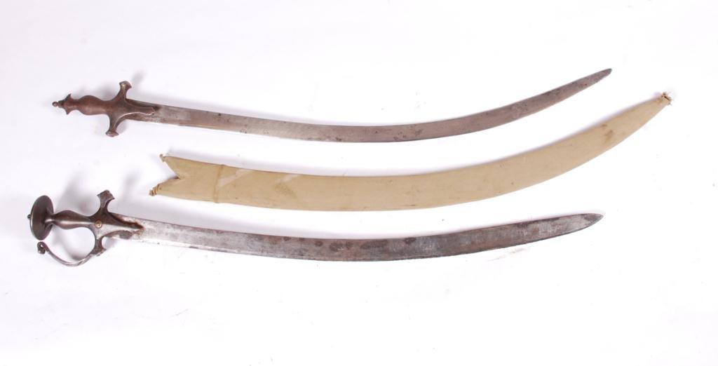 (2) ANTIQUE INDO PERSIAN SWORDS