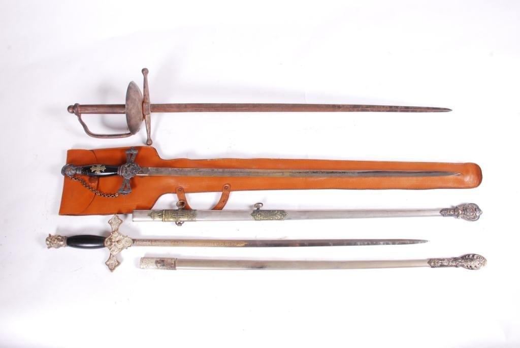 (2) FRATERNAL SWORDS and a THIRD