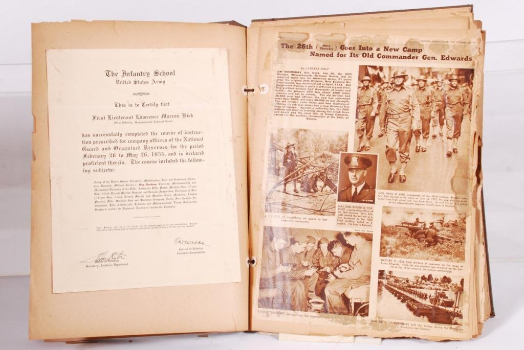 WWII SCRAPBOOK with (2) NAZI ARMBANDS