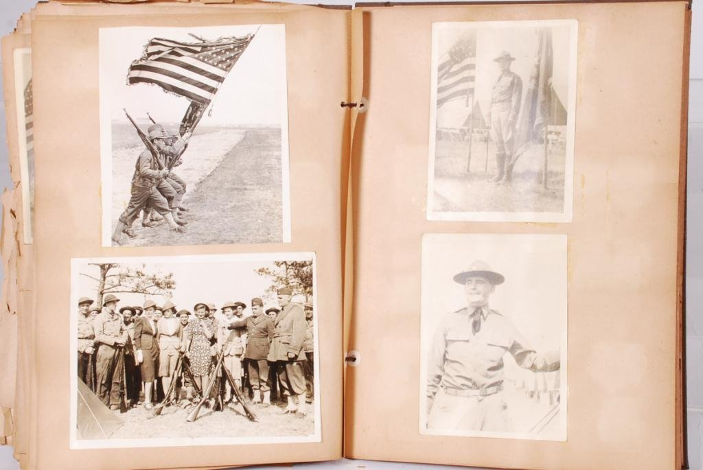 WWII SCRAPBOOK with (2) NAZI ARMBANDS - 3