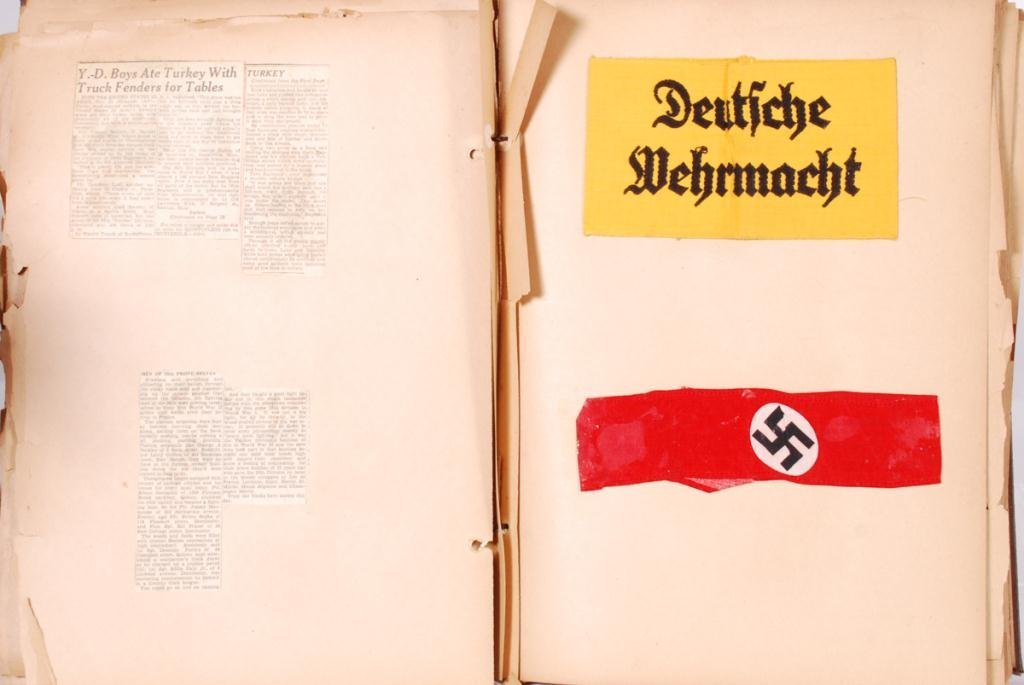 WWII SCRAPBOOK with (2) NAZI ARMBANDS - 6