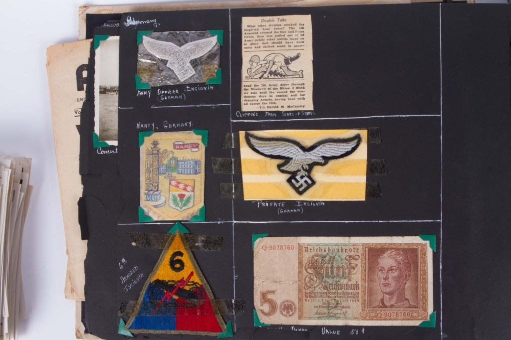WWII GI SCRAPBOOK WITH NAZI ARTIFACTS - 3