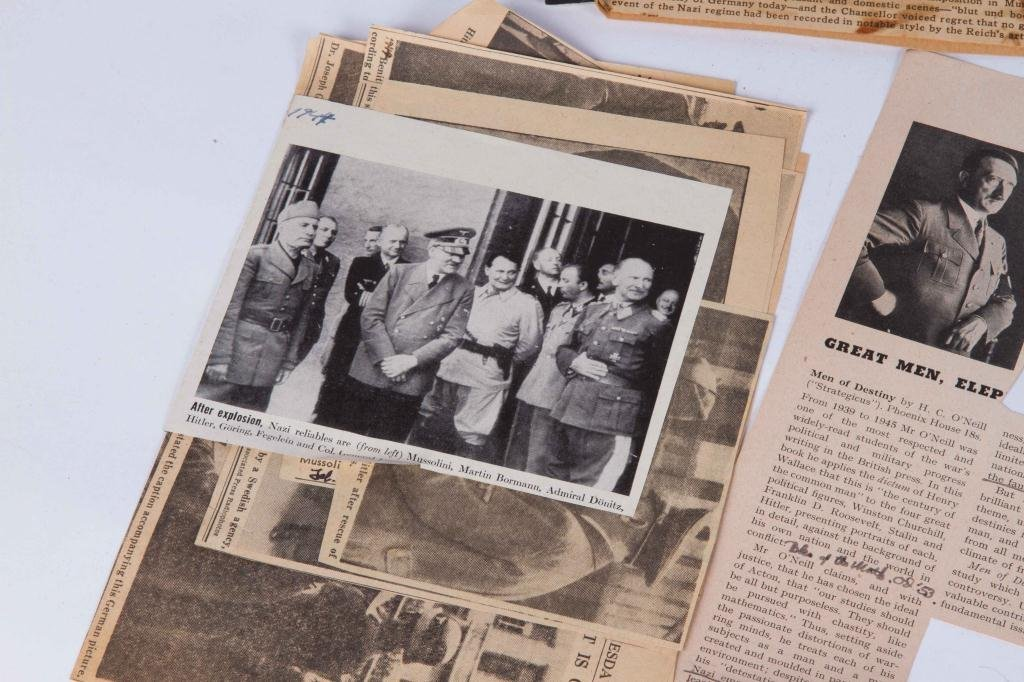 COLLECTION OF NAZI PERIOD PHOTOS AND CLIPPINGS - 10