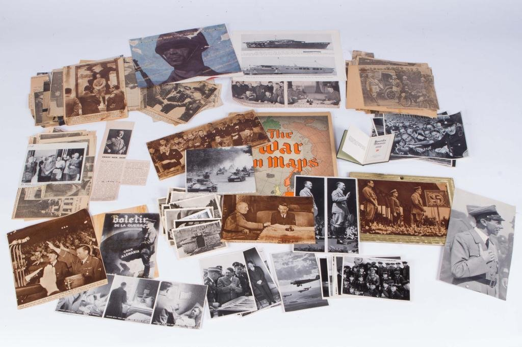 COLLECTION OF NAZI PERIOD PHOTOS AND CLIPPINGS