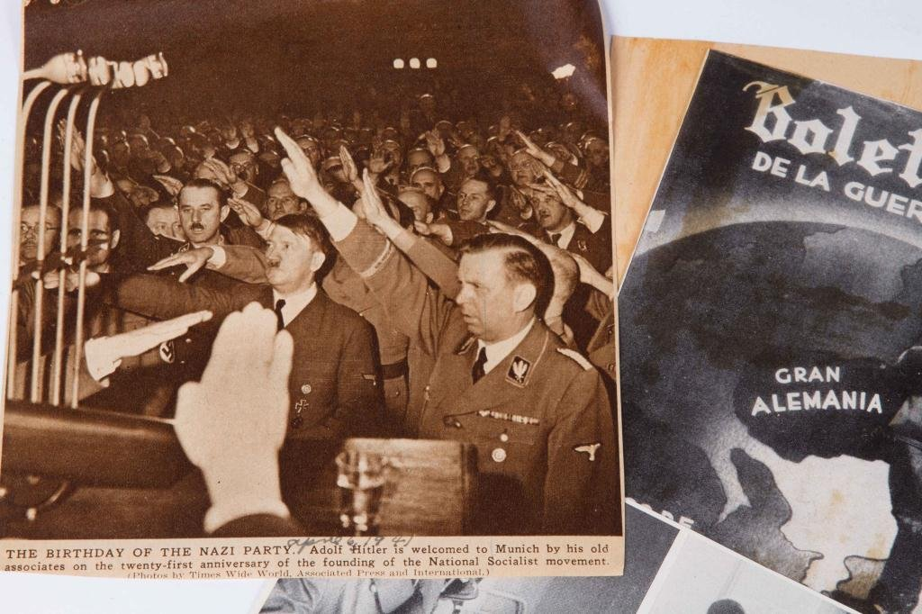 COLLECTION OF NAZI PERIOD PHOTOS AND CLIPPINGS - 9
