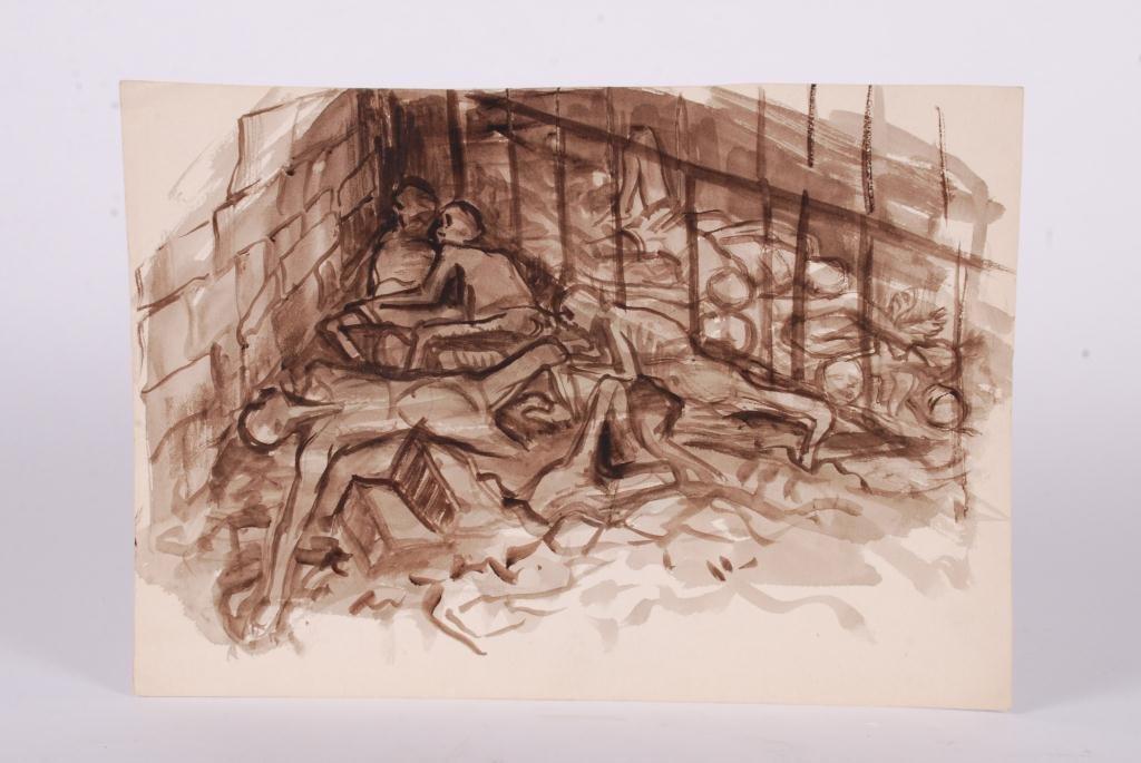 JOHN HATCH (1919-1997) WORLD WAR II GI PAINTING