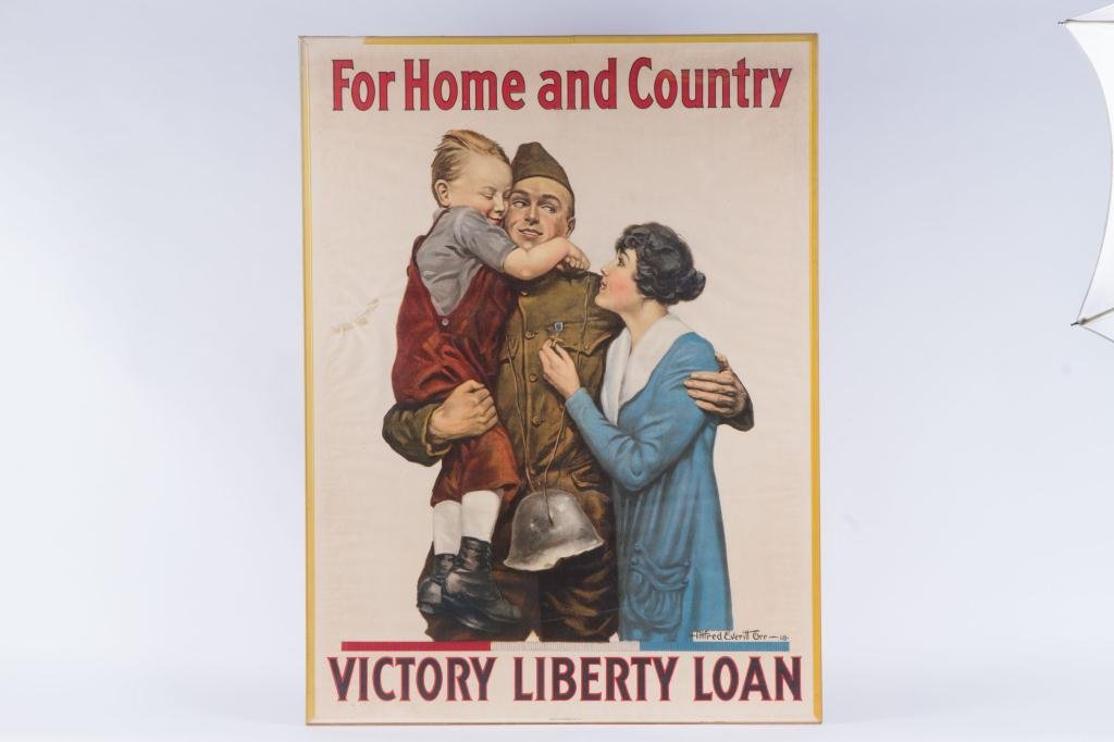 WWI LIBERTY LOAN POSTER by ALFRED ORR 1918 - 3