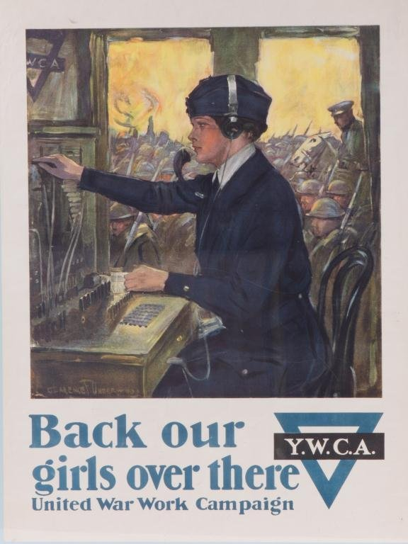 WWI YWCA POSTER by CLARENCE UNDERWOOD
