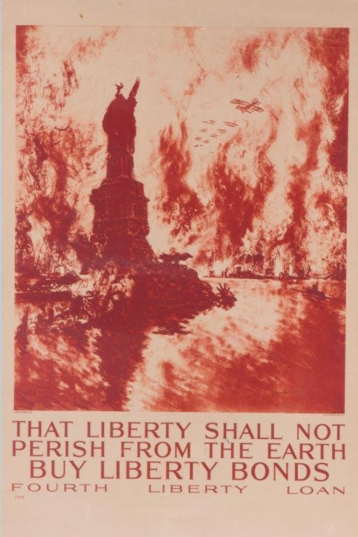 WWI LIBERTY BOND POSTER by JOSEPH PENNELL