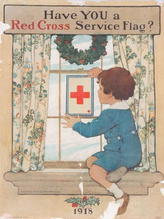 1918 JESSIE WILCOK SMITH RED CROSS POSTER
