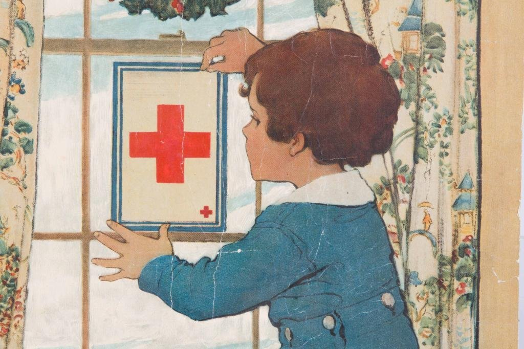 1918 JESSIE WILCOK SMITH RED CROSS POSTER - 5