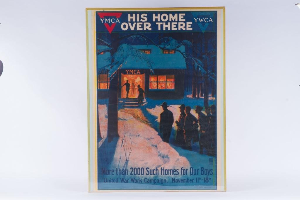 WWI YMCA UNITED WAR WORK CAMPAIGN POSTER - 4
