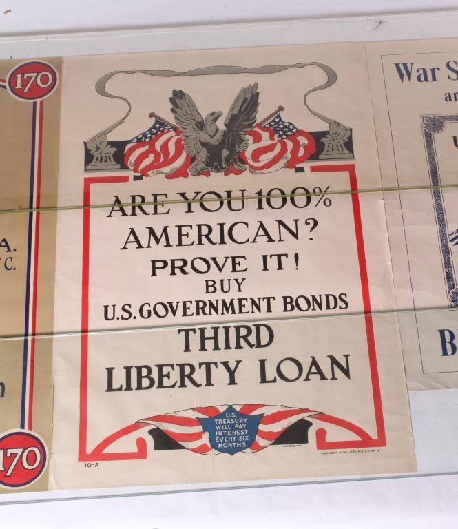 (3) WWI US LIBERTY LOAN YWCA BOND POSTERS - 2