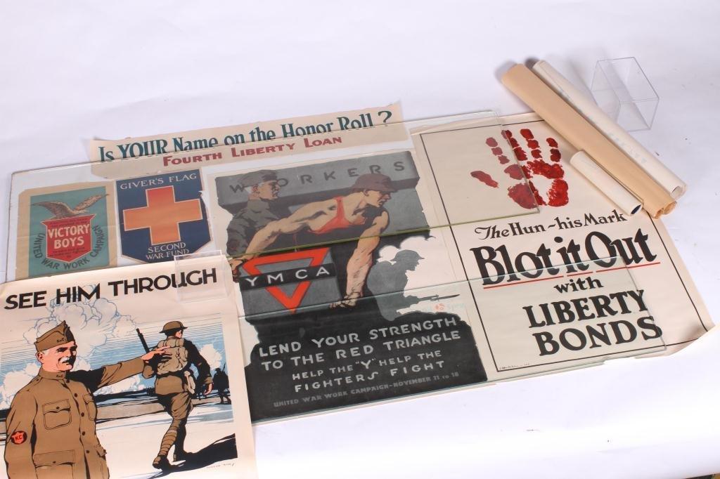 (9) WWI US LIBERTY BOND YWCA POSTERS